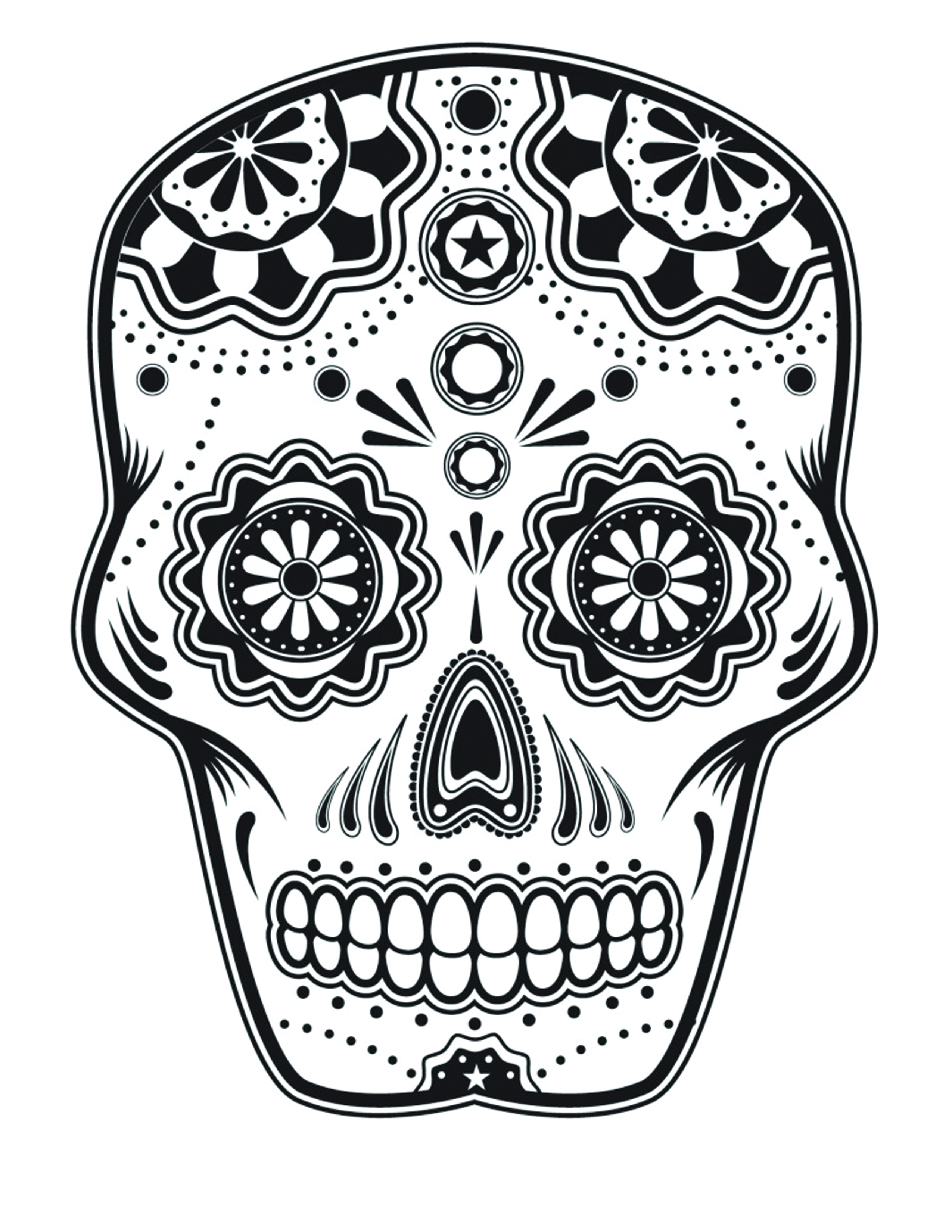 party time - Cinco De Mayo Skull Coloring Pages